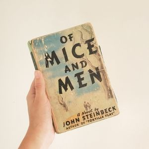 Rare Vintage 1938 Of Mice and Men John Steinback
